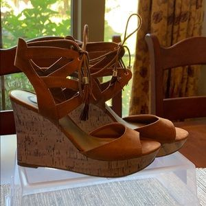 G by Guess wedge Sandals size 9 1/2. Never Worn